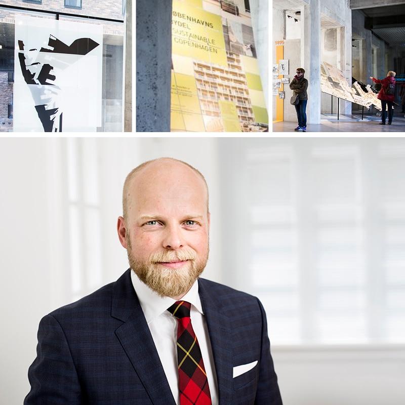 Nicolai Irminger Axholm, chef for udlejning og ejendomme i By & Havn. Billeder fra udstillingen Himmel og Hav.