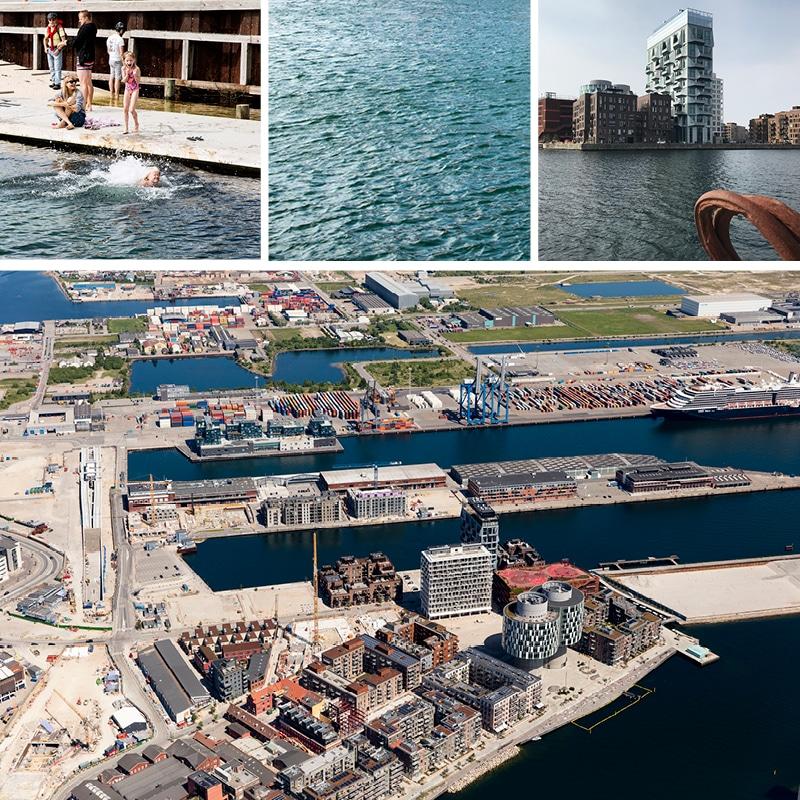 Oversigtsbillede fra Nordhavn samt stemningsbilleder fra området.