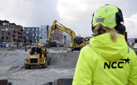 Udgravning i byggegruppen på Kronløbsøens byggeplads.