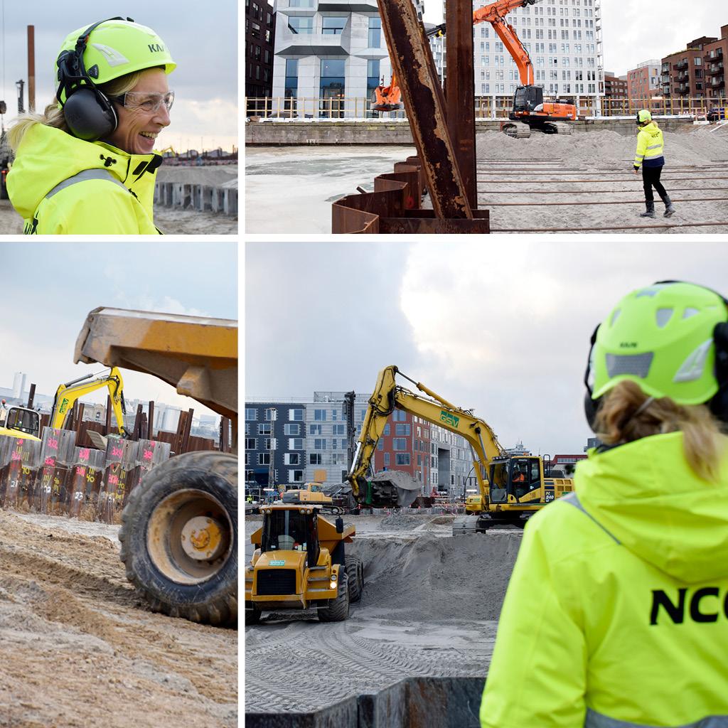 Udgravning og ankre på Kronløbsøens byggeplads.