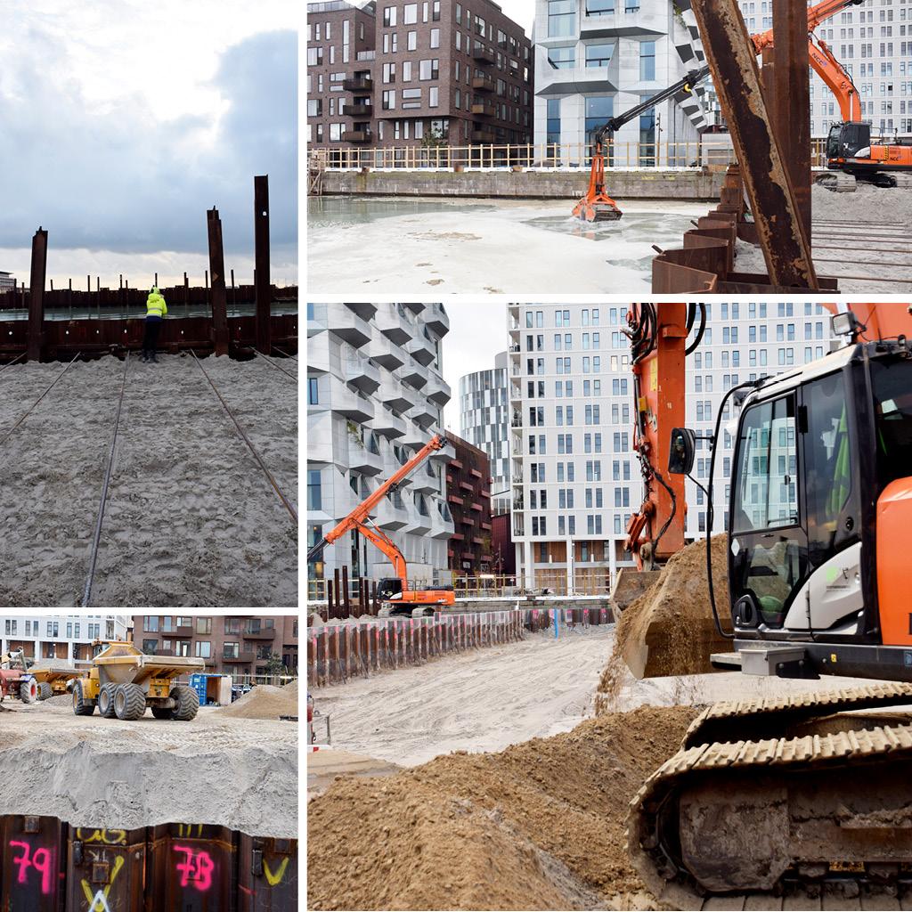 Udgravning på Kronløbsøens byggeplads.
