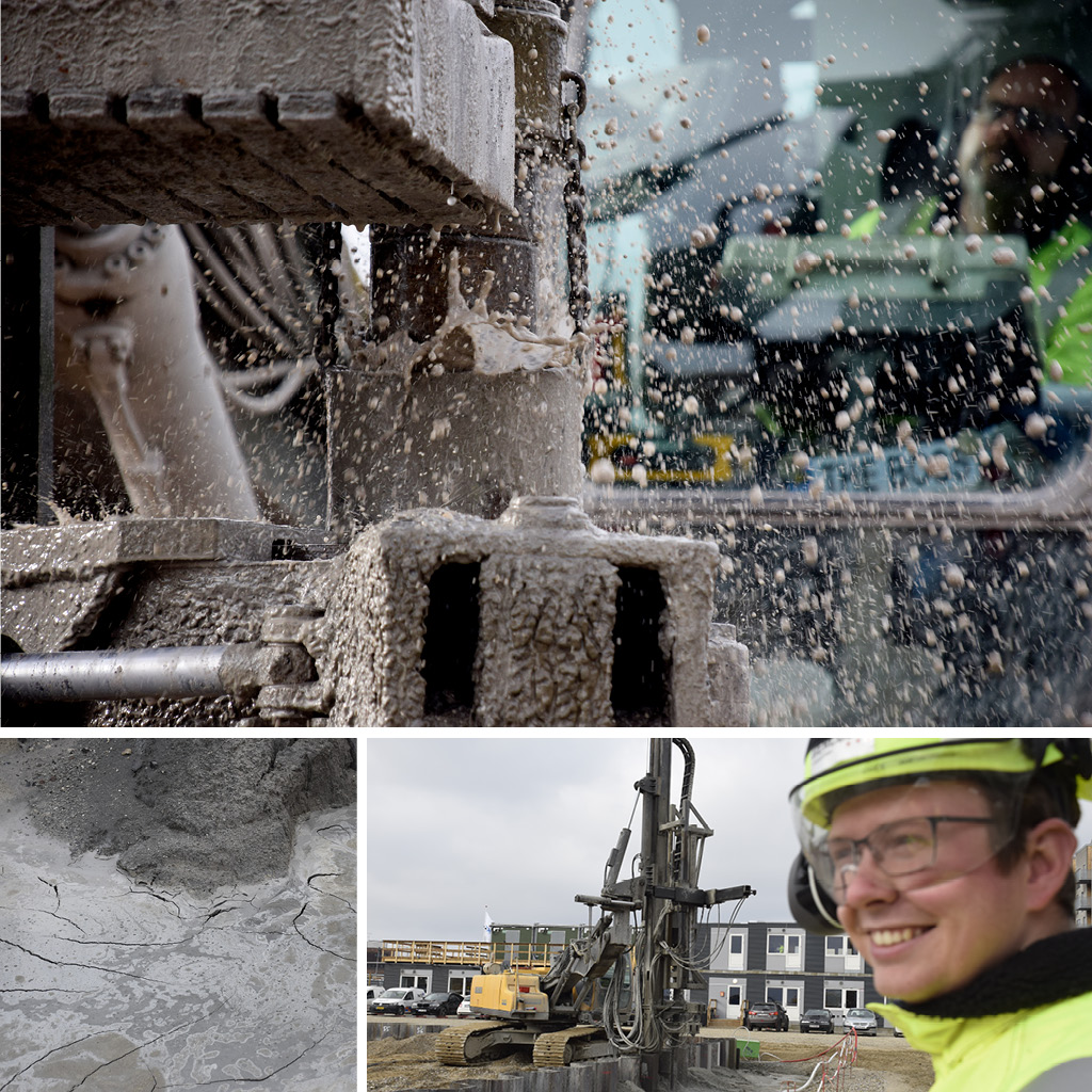 Kronløbsøen. Groutninghsmaskine. Andreas Christensen, produktionsleder hos Hercules Fundering.