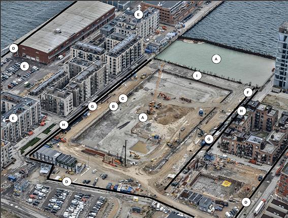 Byggeaktivitet Kronløbsøen januar 2020