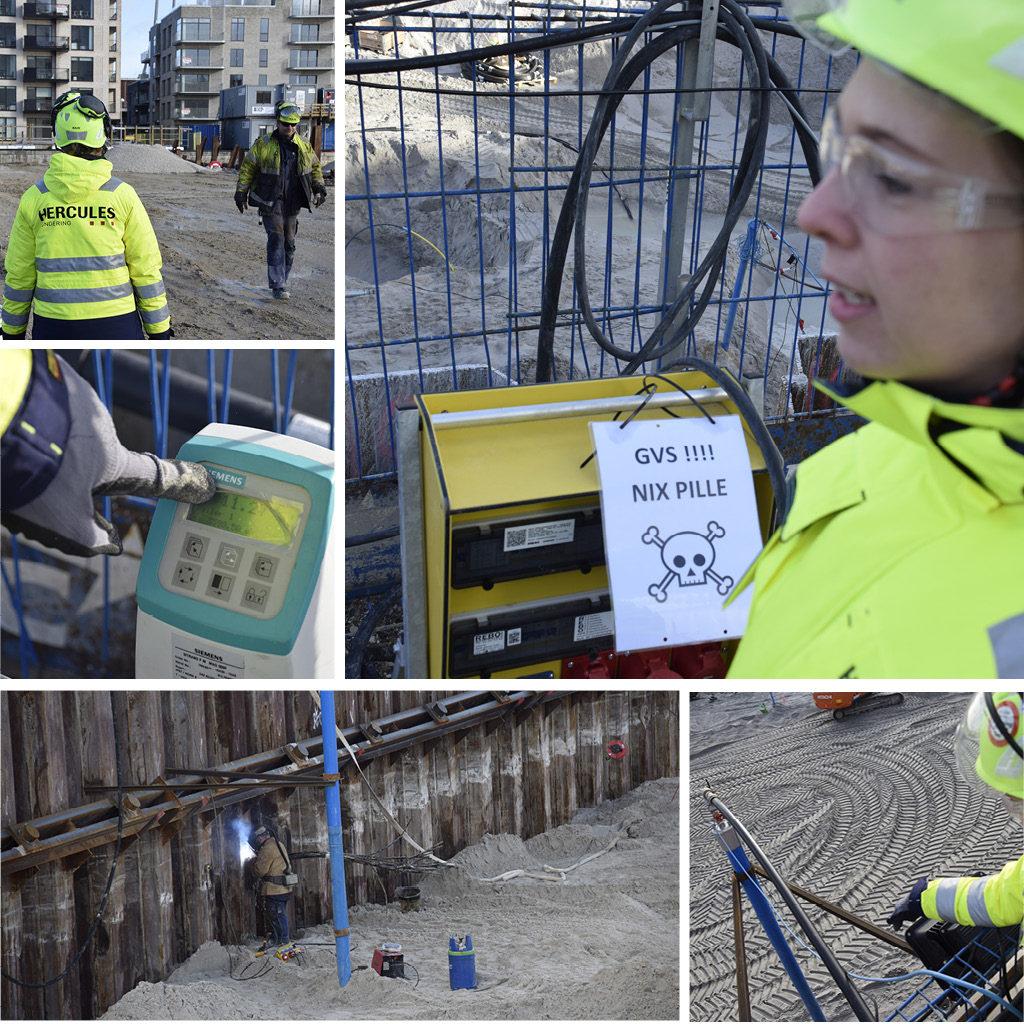 Grundvandssænkning installationer på Kronløbsøens byggeplads.