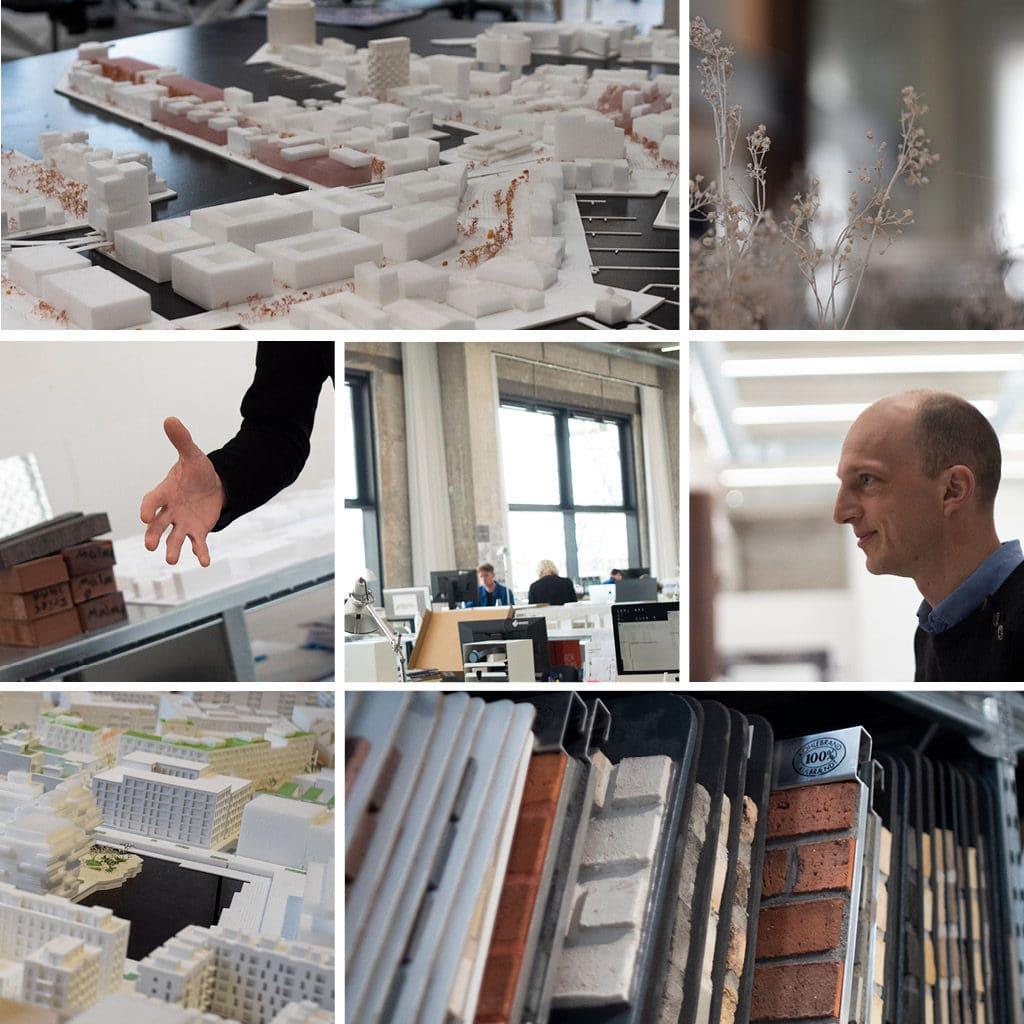 COBE Rune Boserup modeller af Nordhavn og materiale prøver
