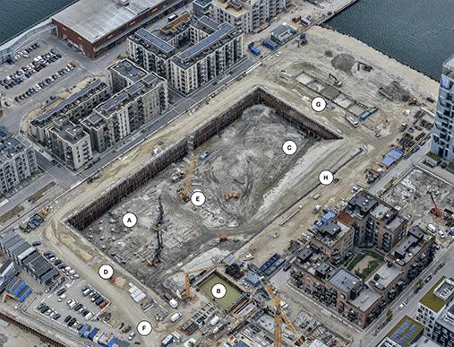 Kronløbsøen byggeaktiviteter 2020