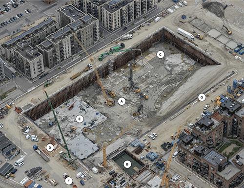 Byggeaktivitet Kronløbsøen august 2020