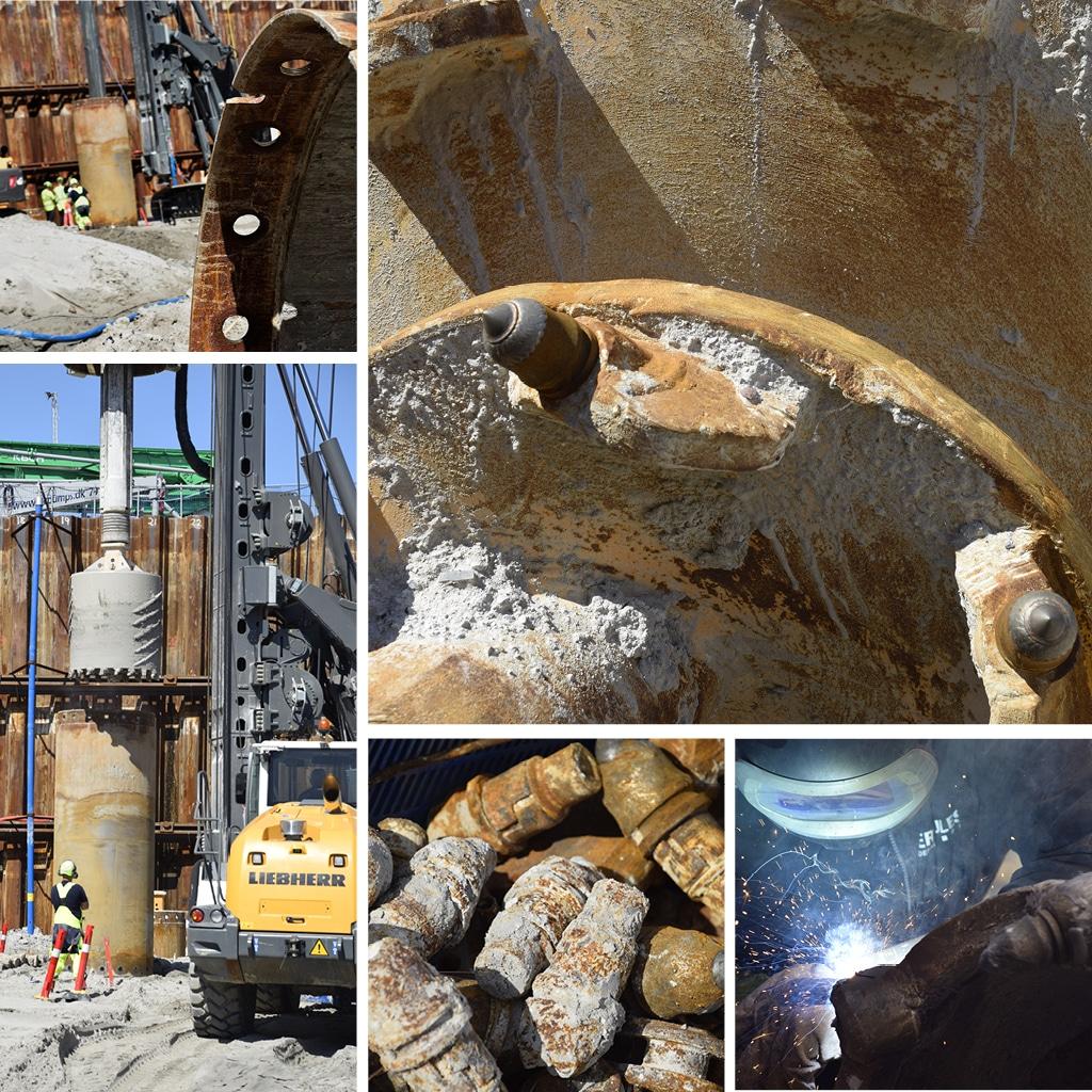 Kronløbsøen - sekantboremaskiner og boreudstyr