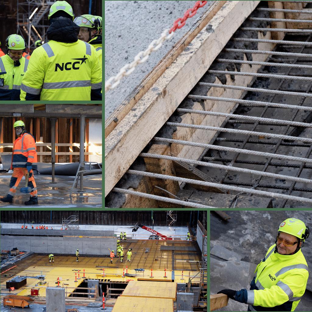 Kronløbsøen - mellemdæk og beton