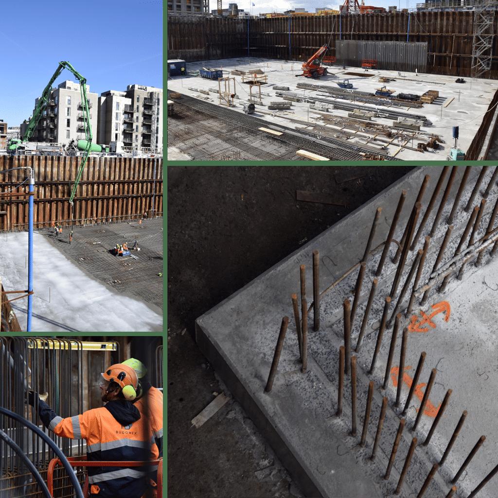 Kronløbsøen - vægge i parkeringskælderen forberedes