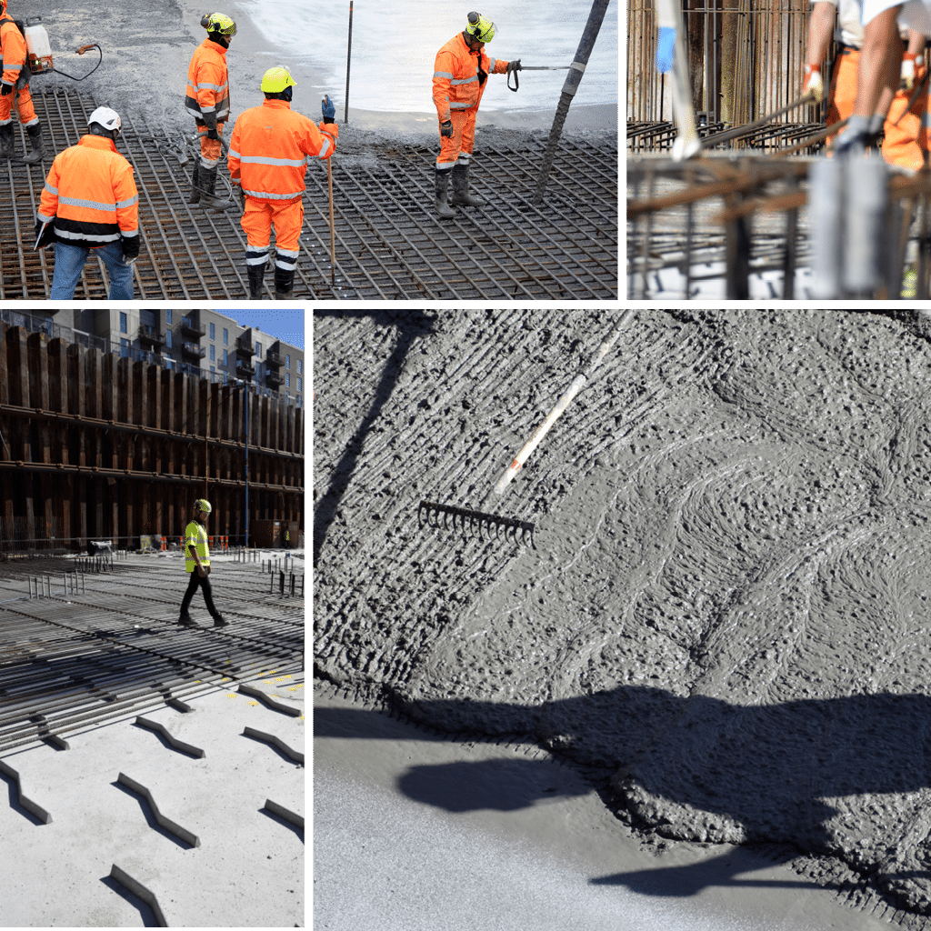 Kronløbsøen - arbejde med bundplade