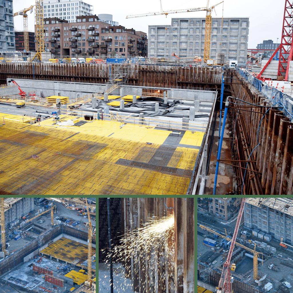 Kronløbsøen - overblik tunnelgrube og byggegrube