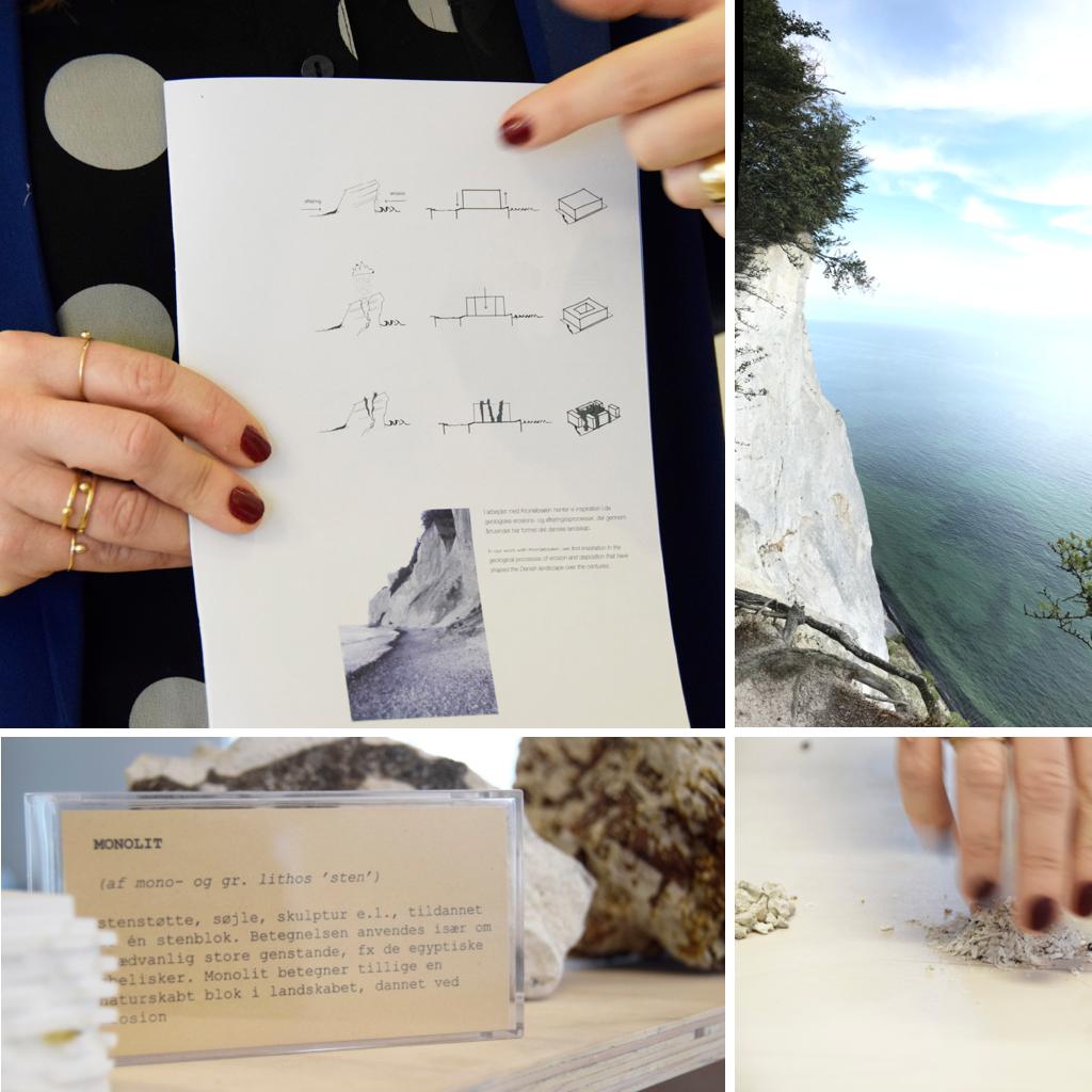 Kronløbsøen, monolit, tegning, møns klint.