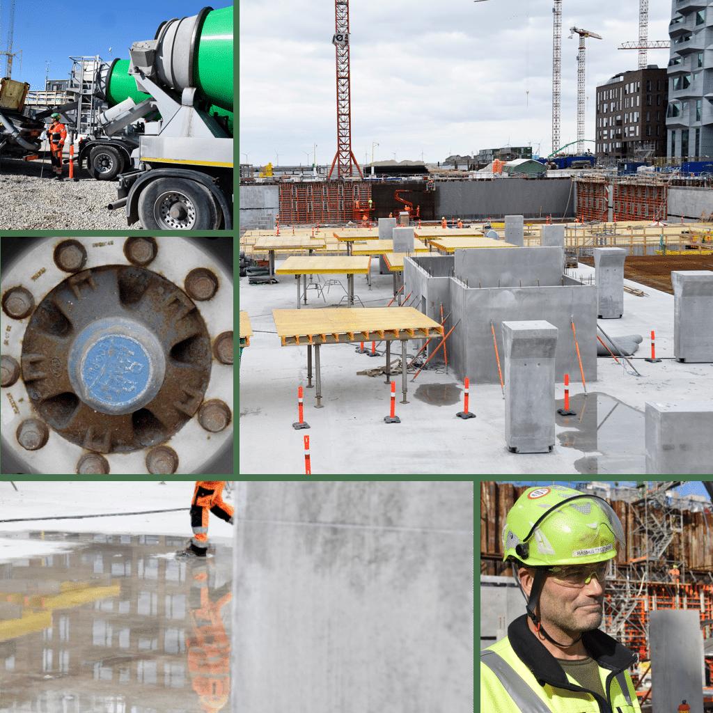 Kronløbsøen - støbning og status i byggegruben