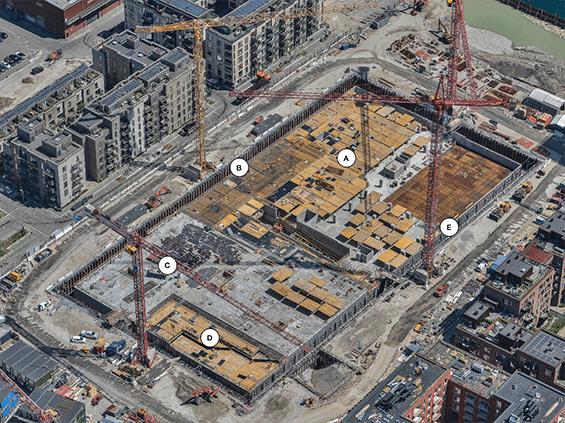 Kronløbsøen - byggeaktivitets oversigt juli 2021