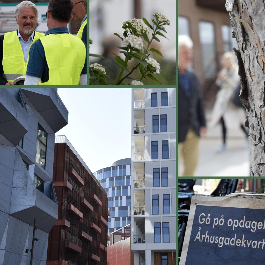 Kronløbsøen - collage med Jens Damgaard, direktør i Kronløbsøen Projekt P/S samt byrum i Nordhavns Aarhusgadekvarter.