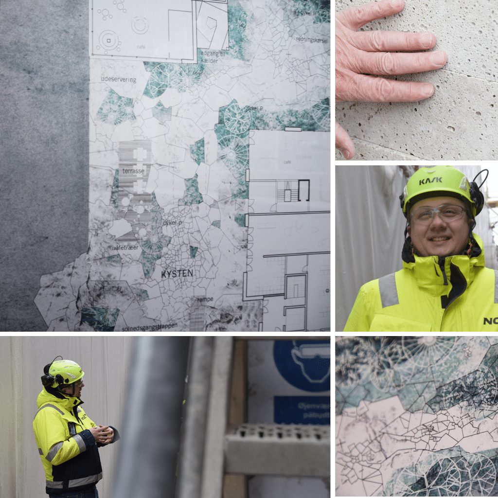 Kronløbsøen - cvollage med billeder af kort ogver klinyen samt Samuel Rasmussen, NCC